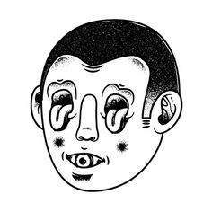 CRAZY FACE Sergi Delgado #delgado #sergi #design #graphic #illustration #crazy #face #drawing