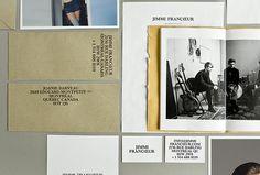 Jimmi Francoeur | AesseVisualJournal. #business #branding #card #publication #envelope #identity #stationery #type #layout