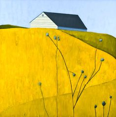 Houses, Clouds and Trees by Scott Redden - #art, #fineart, art