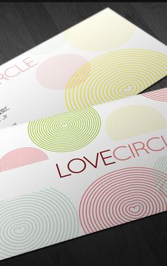 Love Circle Business Card #design #business card #circle