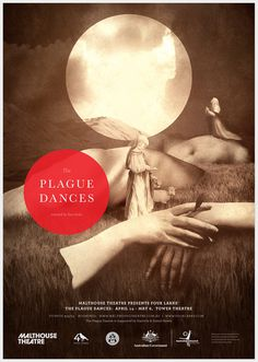 The Plague Dances - Stephanie Butterworth #branding #theatre #photomontage #collage #monochromatic