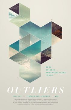 graphicporn:Outliers upcoming Film Premiere #poster #geometry