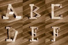 Klotz – Type Experiment #wood #typography