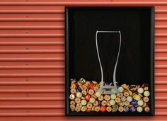 Beer Cap Shadow Box #tech #flow #gadget #gift #ideas #cool