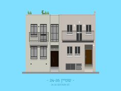tlv buildings by avner gicelter #tel #aviv #illustration #building
