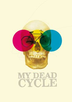 CYCLE Art Print #skull #colors #graphic