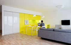 Cheerful Apartment in Krakow by PERA studio #interior #design #yellow #decor #kitchen #deco #decoration