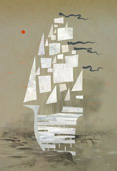 Ken Wong : Illustration #boat #ship #sail #ken wong