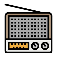 See more icon inspiration related to radio, music and multimedia, radio antenna, gadget, electronics, news, transistor, communications, sound, signal, retro, vintage and technology on Flaticon.