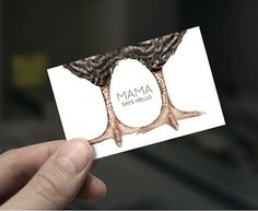 MAMA Shelter #shelter #business #card #mama #chicken #hotel #logo