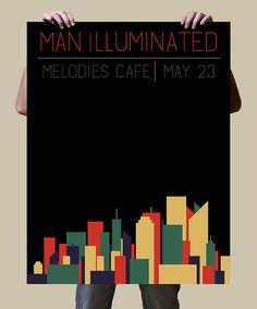 Man Illuminated Gig Poster by Matt Hodin www.behance.net/matthodin