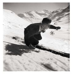 Les Alpes de Doisneau #alps #ski #photography #vintage #mountains #winter
