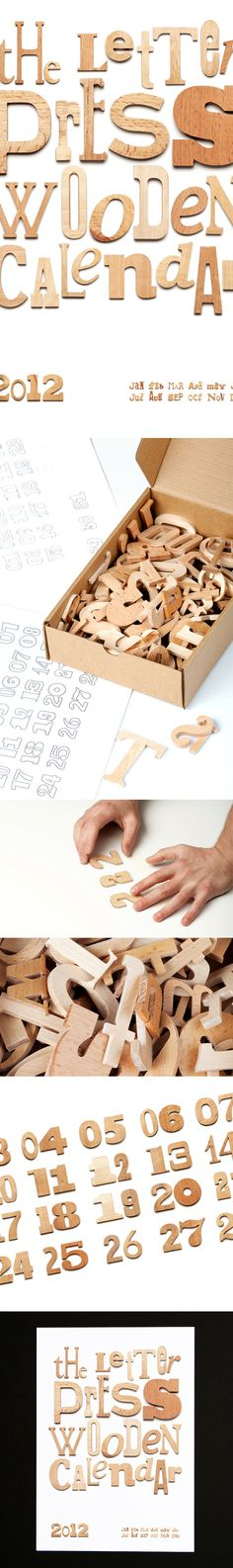 Wooden calendar on the Behance Network
