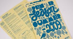 Acorn Open Air | Print Design | A-Side #music #illustration #flyer #typography