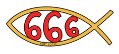 jesus fish 666