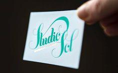 Lead Image #business #card #letterpress #gold #blue #foil #green
