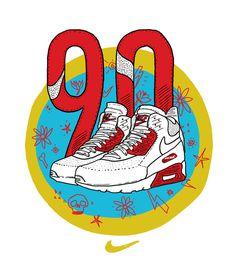Franco Giovanella Portfolio - Ilustração #airmax #nike #90 #sneaker