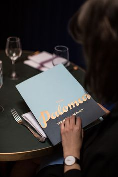 The Palomar #menu #identity #food #print
