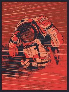 Olympus Mons on Pikted #astronaut #illustration #red