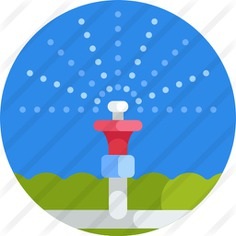 See more icon inspiration related to farming and gardening, sprinkler, gardening, extinguisher, electronics, farming, water, security and ceiling on Flaticon.
