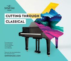 Creative Review Cutting through classical #music #painting #colours #piano #split #cutting through classical