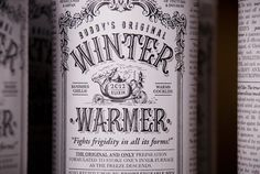 Winter Warmer on Behance >> Buddy Creative #mulled #warmer #packaging #drink #elixir #medicine #wine #winter