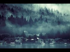 4268954145_38451bc31d_o.jpg (изображение «JPEG», 1200 × 909 пикселов) #water #tree #fog #town #mood #lake #blue #forest