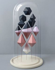 Geometric Paper Sculpture #inspiration #abstract #creative #design #unique #sculptures #cool