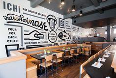 ICHI Sushi | Erik Marinovich #interior #type #illustration