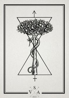 tumblr_mdnn261WDV1r7lzpno1_1280 #tree #snake #tattoo style