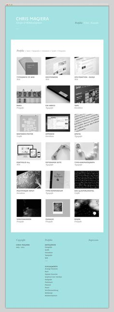 Chris Magiera #layout #website #web #web design