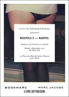 """Maripola X"" Female Invitation www.llapnyc.com #limited #edition #invitation #nude #print #design #graphic #book #contemporary #polaroid #photography #maripol #art #artist"