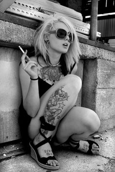 Timo Ulises: Everything Advertising #white #rock #black #tattoo #photography
