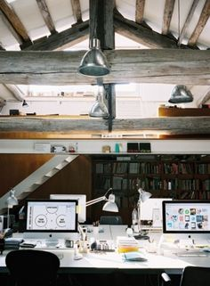 tumblr_m12y73Bs9F1qh9gm7o1_500.jpg (JPEG Image, 500 × 681 pixels) - Scaled (83%) #architecture #office #mac #open ceiling