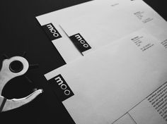 Moo Shoes | Lovely Stationery #monochrome #boots #identity #service