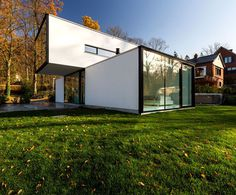 Modern Cube-Shaped House in Belgium - InteriorZine #architecture #house #home #decor #interior