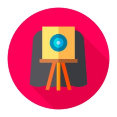 See more icon inspiration related to photo, art and design, furniture and household, photograph, photo camera, electronics, old, retro, vintage, picture, camera and technology on Flaticon.