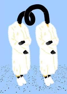 Sara Andreasson #illustration #fashion #white #blue #black