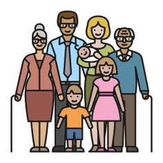 See more icon inspiration related to woman, family, mother, man, love, father, grandparents, elderly, people and grandsons on Flaticon.