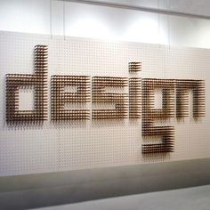 Good Design Lasts #wall #pencil #typeface #installation