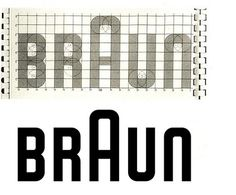 Braun Logo on the grid #logo #grid #braun #logotype