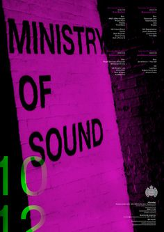 Ministry of Sound Poster #design #graphic #poster #typography