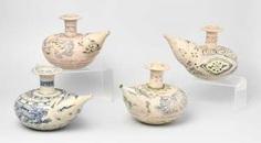 Lot: 4 Kendi #porcelain