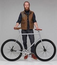 NSC X CBC City Bike... - ecohookups.com #fixed #gear #brown #bike #slick #grey