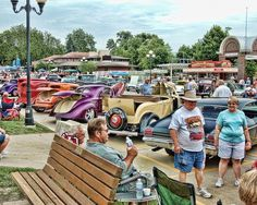 Taking a break at the Good Guys Car Show