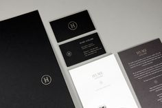 Hume Atelier #atelier #branding #hume #stationery #typography