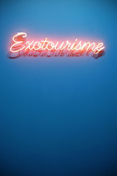 Exotourism #typography #lights #neon #font