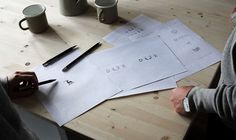 DOE—Vancouver design studio fashion boutique logo sketch process inspiration