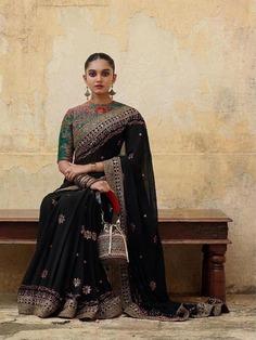 Royal Black Saree