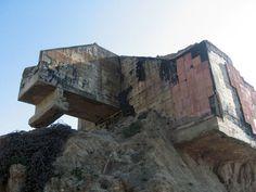 Hanging bunker at Devil's slide #concrete #bunker